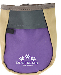 TOM food dispenser dog 12 x 6 cm polyester beige/purple