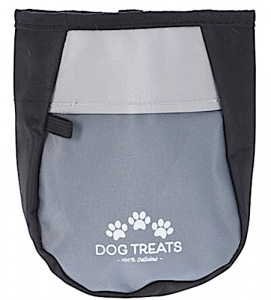 TOM food dispenser dog 12 x 6 cm polyester grey/black