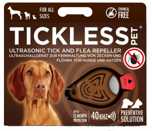 TOM tick and flea control TickLess brown