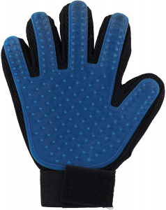 TOM care glove textile/silicone blue/black one-size
