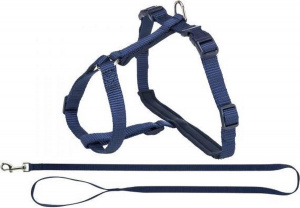 Trixie cat harness with leash Premium 25-45 x 1 cm nylon blue