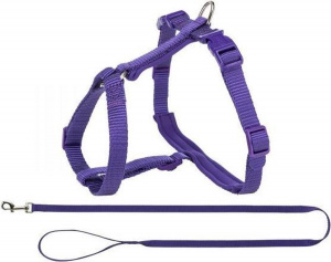 Trixie cat harness with belt Premium 33-57 x 1,3 cm nylon purple