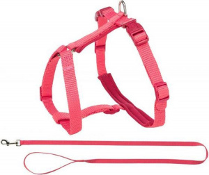 Trixie cat harness with belt Premium 33-57 x 1.3 cm nylon pink