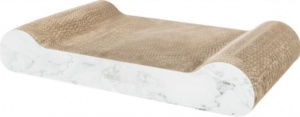 Trixie crab mat marble print XXL 64 x 37 cm cardboard light grey