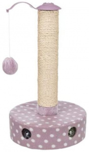 Trixie scratching post 26 x 47 cm sisal/pluche brown/purple