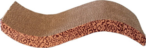 Trixie scratching board Wave 49,5 x 22 cm cardboard brown