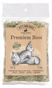 Pet's Own Choice hooi 1 kg groen